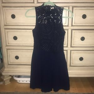 Navy lace Charlotte Russe dress